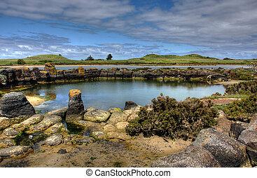 coastal landscape along great ocean road