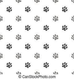 Seamless Cat Animal Paw Pattern Print of Paw Background