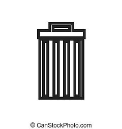 Trashcan waster icon garbage can vector illustration