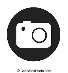 digital camera icon, technology photography vector...