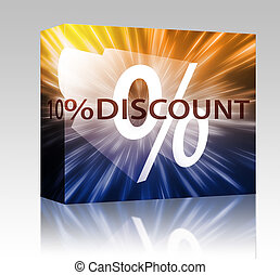 Percent Discount illustration box package - Software package...