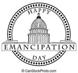 Stamp imprint Emancipation Day - Stamp imprint with the...