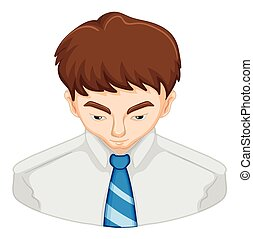 Man with brown hair illustration