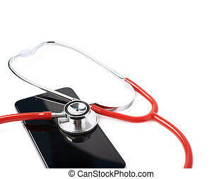 Medical stethoscope over the phone