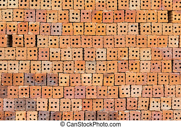 Red brick block for wallpaper and background