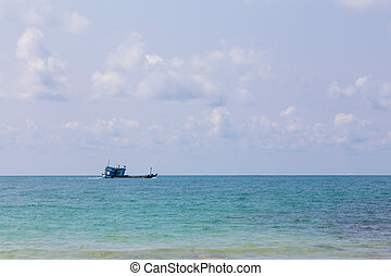 pesca, Ostentação, ligado, a, oceânicos, Skyline