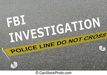 FBI Investigation concept - 3D illustration of FBI...