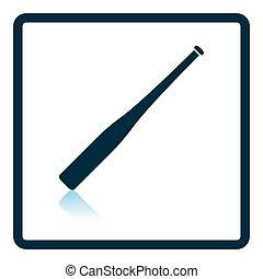 Baseball bat icon. Shadow reflection design. Vector...