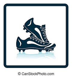 Baseball boot icon. Shadow reflection design. Vector...