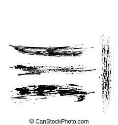grunge frame - abstract black grunge frame background,...