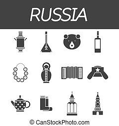 Russia icon set - Travel to Russia Set of icons of Russian...