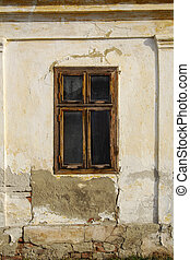 Window 12 - Window on the wall of an old house in...
