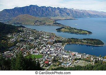 queenstown new zealand senic background landscape
