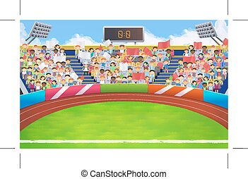 Stadium, sports arena vector background