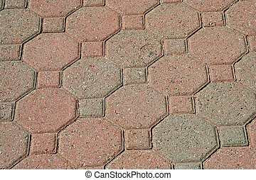 Brick pavers background texture - A Brick pavers background...