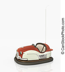 Bumper car - Computer generated 3D illustration with a...