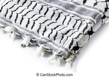 muslim scarf on white background