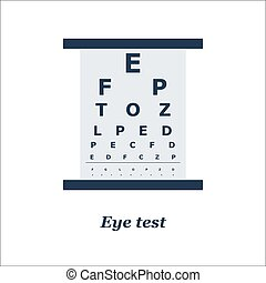 illustration of Eye test chart Vector Optician,...