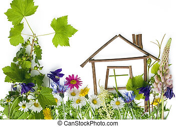 The sweet green dream home - Cchildrens application, collage...