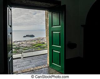View of Ilheu da vila - Ilheu da vila island seen through...