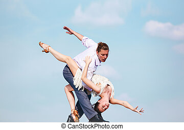 Passionate dance - Image of passionate couple dancing over...
