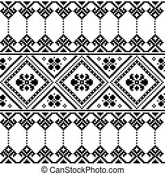 Ukrainian or Belarusian folk art - Ethnic seamless...