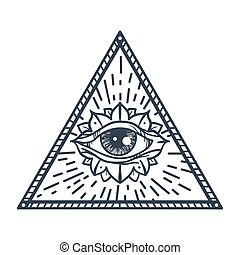 All Seeing Eye in Triangle