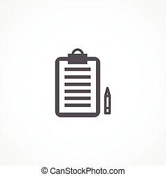 Order icon - Gray Order icon on white background