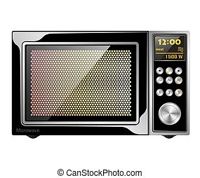 Image quality black enabled microwave oven with electronic...