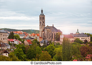 View to Saint James cathedral in Kutna Hora, Czech republic