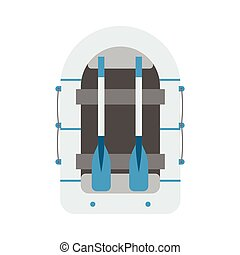 Inflatable Boat Vector Icon - Inflatable boat vector...