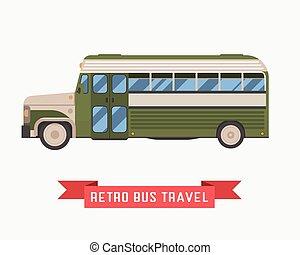 Retro Omnibus Illustration - Old style travel omnibus...