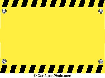 Warning sign - Yellow and black illustration