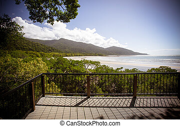Cape Tribulation Beach in the Daintree, Queensland,...