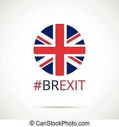 Brexit. Vector UK flag round icon