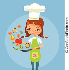 Cooking girl character