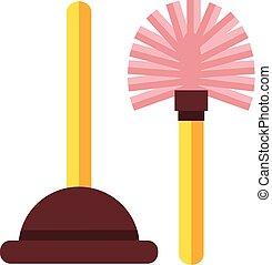Toilet icon. Vector flat cartoon illustration