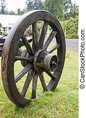 Vintage Wagon Wheel - Puerto Montt - Chile - Colonial Time...
