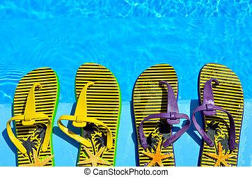 piscina, Cambia de dirección, natación