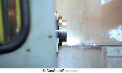 closing the door CNC machine - closing safety gate door CNC...