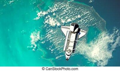 Space Shuttle Orbiting Earth 4K