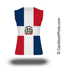 athletic sleeveless shirt with Dominican Republic flag on...