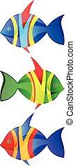 logotipo, peixe, vetorial, jogo