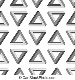 Seamless Impossible Triangle Pattern - Seamless Triangles...