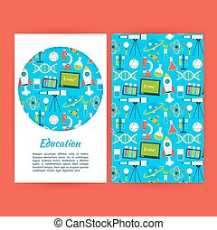 Education Banner Template. Flat Style Vector Illustration of...