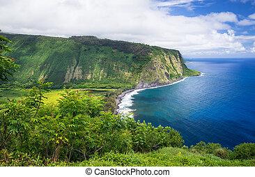 Waipio Valley View on Big Island Hawaii - Waipio Valley...