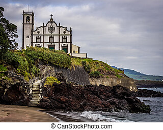 Catholic church in Ponta Delgada on Sao Miguel Island,...