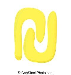 Sign new shekel icon, cartoon style - Sign new shekel icon...