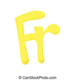 Sign frank icon, cartoon style - Sign frank icon in cartoon...
