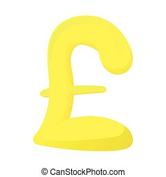 Sign pound sterling icon, cartoon style